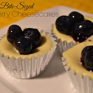 Bite-Sized Blueberry Cheesecakes