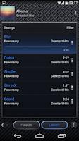 Screenshot of Poweramp skin Carbon Fiber
