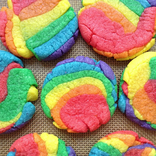 Rainbow Cookie Sandwiches.