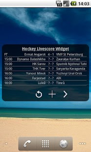 Hockey Livescore Widget - screenshot thumbnail