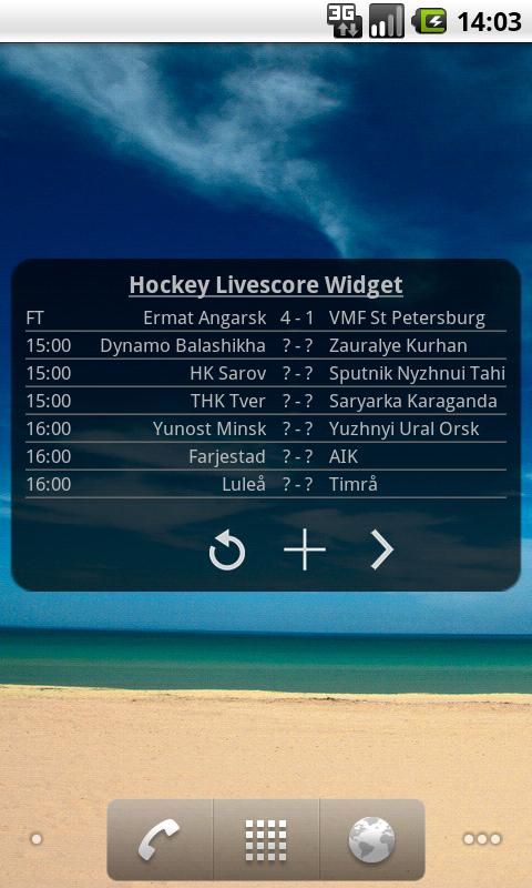 Hockey Livescore Widget- screenshot