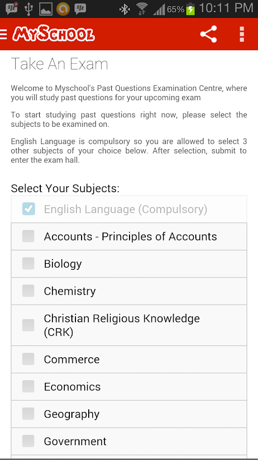 JAMB CBT Past Questions - screenshot