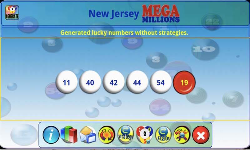 mLottoLuck Lotto Lottery LITE - screenshot