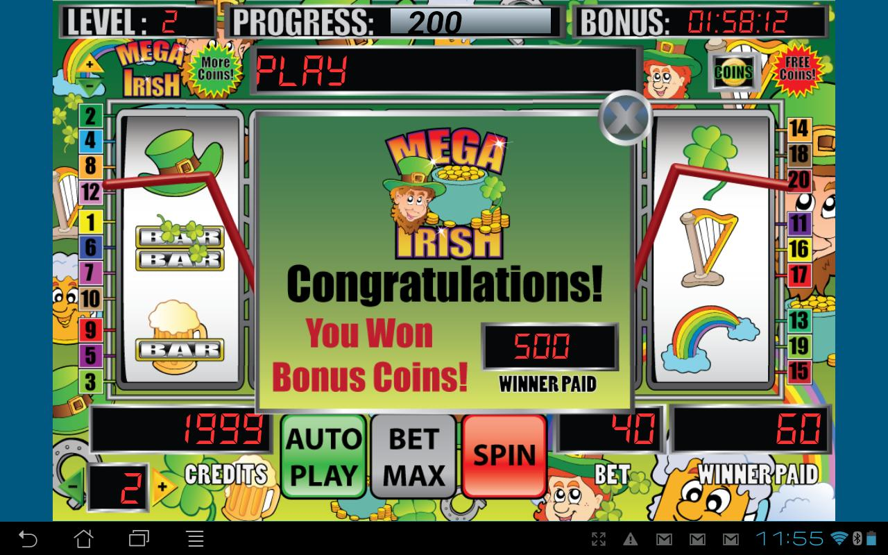 Mega Irish Slot Machine - screenshot