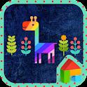 Colorful night giraffe dodol icon
