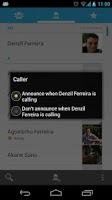 Screenshot of Caller Name