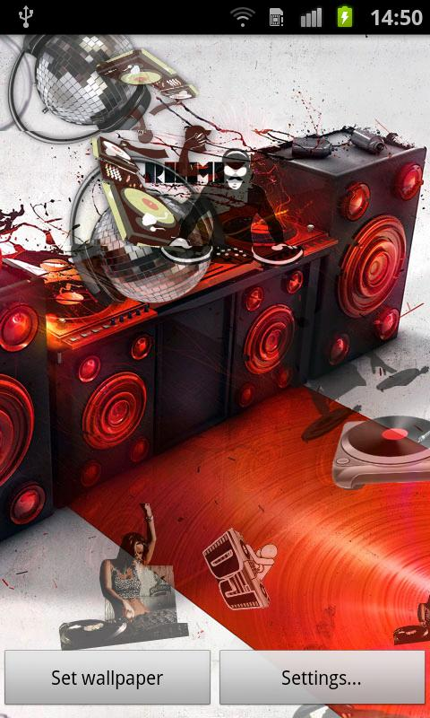 Music DJ Live Wallpaper - screenshot