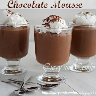 2 Ingredient Chocolate Mousse made with with Tofu.