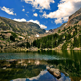 by Todd Yoder - Landscapes Mountains & Hills ( water, mountains, reflections, sky .clouds, pond )