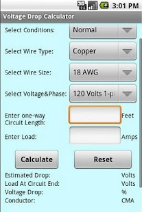 Voltage drop calculator android apps on google play voltage drop calculator screenshot thumbnail voltage drop calculator screenshot thumbnail greentooth Gallery