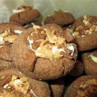 Santa's Chocolate Thumbprint Cookies.
