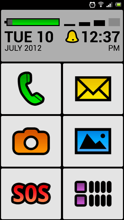 BIG Launcher Senior Phone DEMO - screenshot