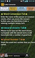 Screenshot of Lotto Converter