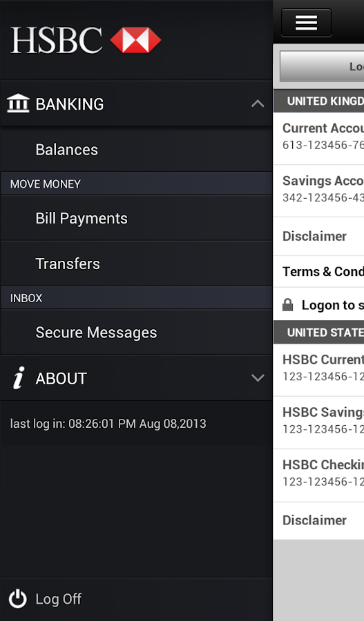 HSBC Mobile Banking- screenshot