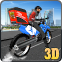 City Pizza Delivery Guy 3D icon