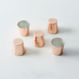 Vintage Copper Pudding Cup Moulds, Late 19th Century