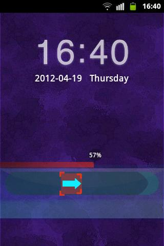GO Locker Theme Dark Purple- screenshot