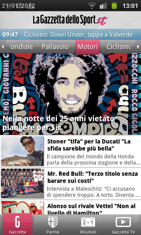 Gazzetta Mobile - screenshot