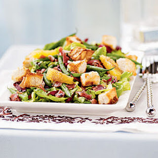 Radicchio, Haricots Verts, and Sweet Lettuce Salad.