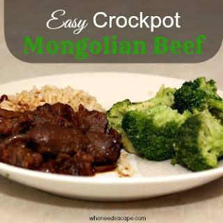 Easy Crockpot Mongolian Beef.