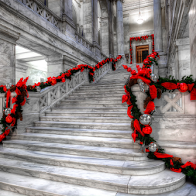 Arkansas State Capital - Christmas by William Rainey  - Buildings & Architecture Public & Historical ( holiday, religion, christmas, architectural, government, photography )
