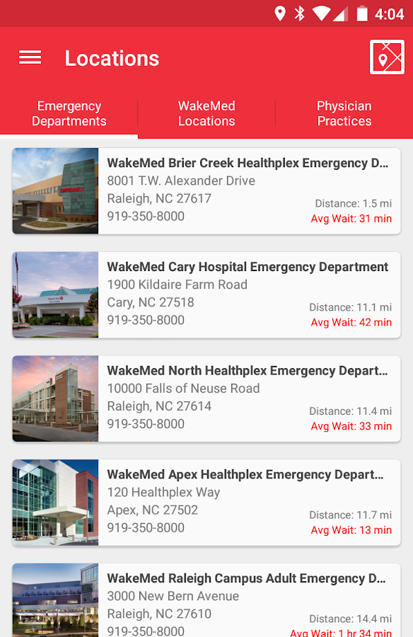 WakeMed- screenshot