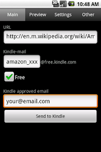 Send to Kindle - screenshot thumbnail