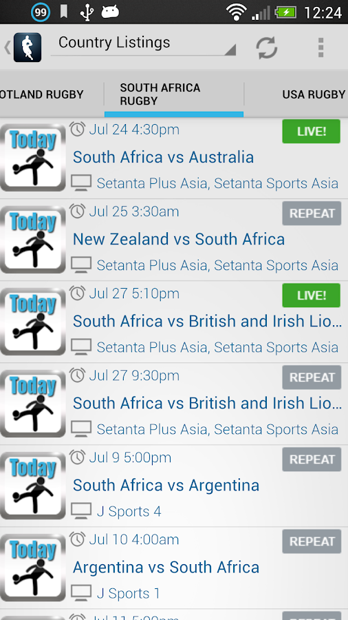 Live Rugby On TV- screenshot