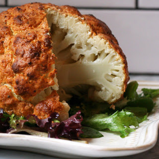 Spicy Whole Roasted Cauliflower.