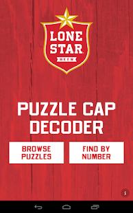 Lone Star Puzzle Caps Decoder - screenshot thumbnail