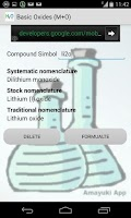 Screenshot of Chemical Inorganic Formulation