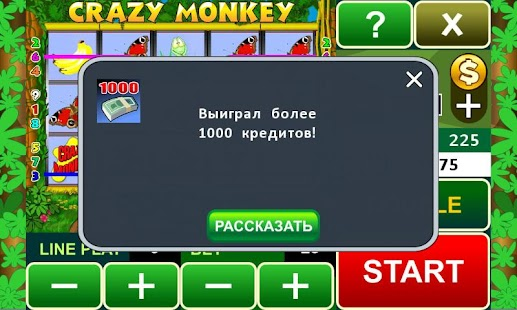 Crazy Monkey slot machine- screenshot thumbnail