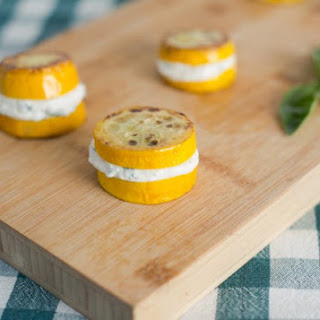 "Summer Squash and Fresh Ricotta ""Sandwiches"""