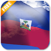 3D Haiti Flag Live Wallpaper