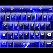 Theme TouchPal G Blue Galaxy