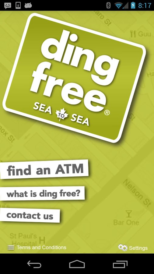 ding free ATM Locator- screenshot