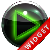 Poweramp Widget Green Glow