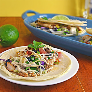 Margarita Fish Tacos with Chipotle Lime Sauce.