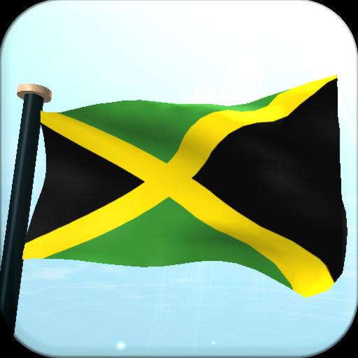牙买加旗3D免费动态壁纸 個人化 LOGO-玩APPs