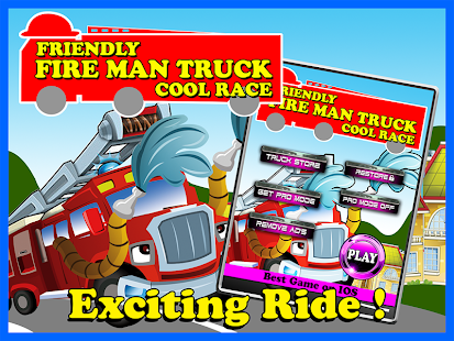 Friendly Fire Man Truck Cool