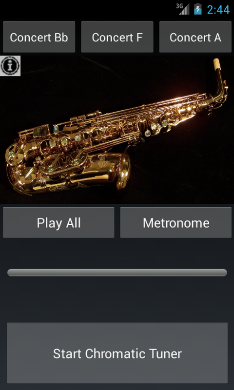 Easy Saxophone - Sax Tuner - screenshot