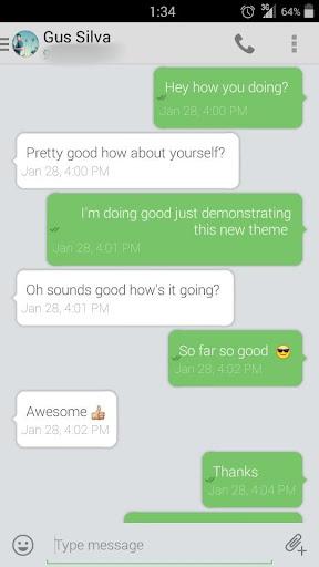 Evolve SMS Theme - BH Pastel