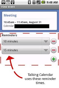 Talking Calendar Ad-free - screenshot thumbnail