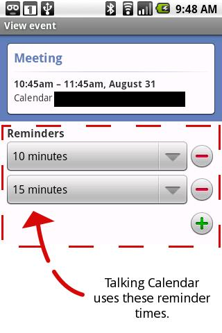Talking Calendar Ad-free - screenshot