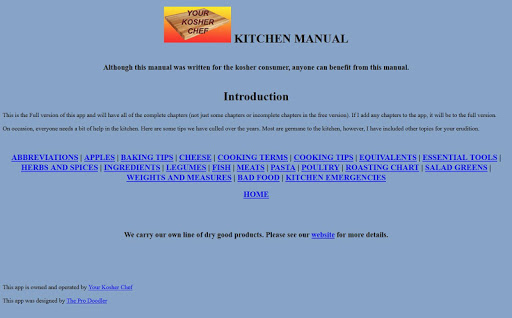 Kosher Chef Kitchen Manual