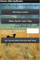 Screenshot of Hunters Wind Direction App