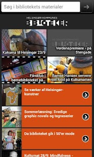 Helsingørs Biblioteker - screenshot thumbnail