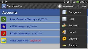 Screenshot of Checkbook Pro