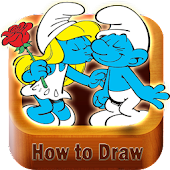 How to draw Smurfs