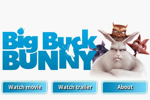 Big Buck Bunny Movie App- screenshot